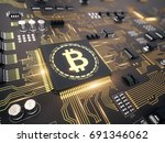 bitcoin concept   printed... | Shutterstock . vector #691346062