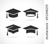 graduation university square... | Shutterstock .eps vector #691348255