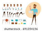 businessman character creation... | Shutterstock .eps vector #691354156