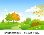 vector cartoon drawing of a... | Shutterstock .eps vector #691354402