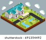 vector banner  welcome back to... | Shutterstock .eps vector #691354492