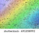 abstract square pixel mosaic... | Shutterstock .eps vector #691358992