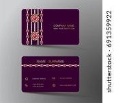 luxurious indian business card  ... | Shutterstock .eps vector #691359922