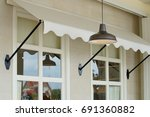 vintage hanging lamp  | Shutterstock . vector #691360882