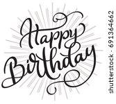 happy birthday words on white...   Shutterstock .eps vector #691364662