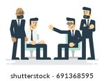 business characters working in... | Shutterstock .eps vector #691368595