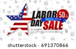 labor day sale promotion... | Shutterstock .eps vector #691370866