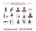 measles. symptoms  treatment.... | Shutterstock .eps vector #691374946