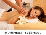 body care. spa body massage...   Shutterstock . vector #691375012