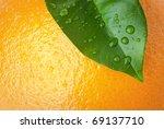 Close Up Of Orange Peel And...