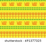 composition of straw  based on... | Shutterstock .eps vector #691377325