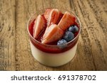 beautiful and tasty food on a... | Shutterstock . vector #691378702