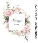 vintage card  watercolor... | Shutterstock . vector #691379692