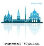 abstract landscape of... | Shutterstock .eps vector #691383238