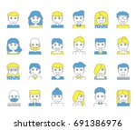 character avatar or people line ... | Shutterstock .eps vector #691386976
