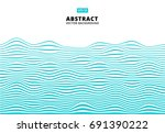 abstract blue lines wave  wavy... | Shutterstock .eps vector #691390222