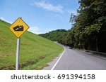 country road  | Shutterstock . vector #691394158