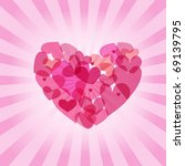 abstract valentines background...   Shutterstock .eps vector #69139795