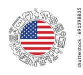 internet technology and... | Shutterstock .eps vector #691398835