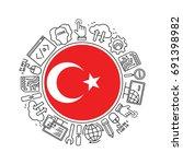 internet technology and... | Shutterstock .eps vector #691398982