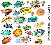 bright comics design elements ... | Shutterstock .eps vector #691402585