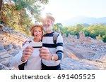 more opportunities for travel.... | Shutterstock . vector #691405525