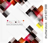 abstract vector blocks template ... | Shutterstock .eps vector #691407388