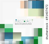 abstract vector blocks template ... | Shutterstock .eps vector #691407472