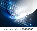 glowing wave created with... | Shutterstock .eps vector #691410088