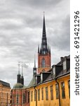 Small photo of Broach of Riddarholm Church in Stockholm, Sweden