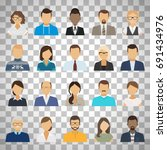 business people flat avatars.... | Shutterstock .eps vector #691434976