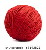 Stock photo red ball of yarn 69143821