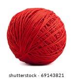 Stock photo red ball of yarn 69143821