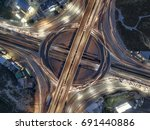 road traffic in city at... | Shutterstock . vector #691440886