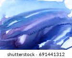 hand painted watercolor... | Shutterstock . vector #691441312