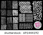 vector hand drawn textures.... | Shutterstock .eps vector #691444192