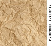 repeating crumpled brown parcel ... | Shutterstock . vector #691445458