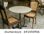 furniture chair table... | Shutterstock . vector #691450906
