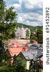 panoramic view of karlovy vary  | Shutterstock . vector #691452892