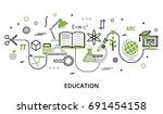 modern flat thin line design... | Shutterstock .eps vector #691454158