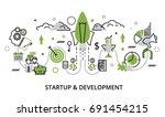modern flat thin line design... | Shutterstock .eps vector #691454215