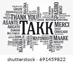 takk  thank you in icelandic ... | Shutterstock .eps vector #691459822