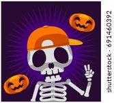 vector graphic skeleton... | Shutterstock .eps vector #691460392