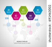 icon set and infographics.... | Shutterstock .eps vector #691463002
