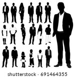 people set  a collection of... | Shutterstock .eps vector #691464355