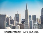 aerial view of san francisco... | Shutterstock . vector #691465306