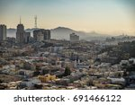 aerial view of san francisco... | Shutterstock . vector #691466122