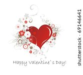 valentine s day card | Shutterstock .eps vector #69146641