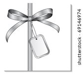 silver bow with a card for the... | Shutterstock .eps vector #69146974