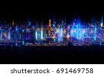 beautiful light flares. glowing ... | Shutterstock . vector #691469758